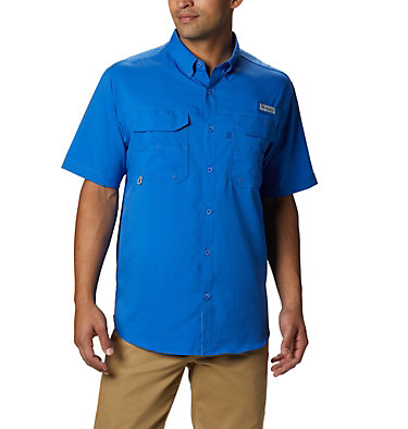 Men's PFG Blood and Guts™ III Short Sleeve Woven Shirt Blood and Guts™ III Short Sleeve Woven | 967 | XS, Vivid Blue, front
