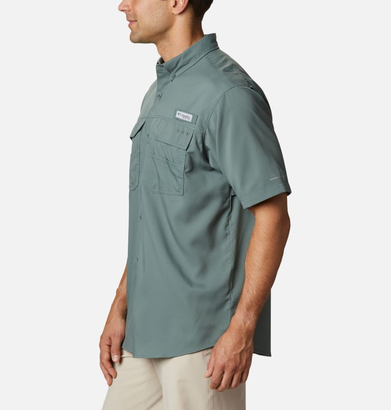 Blood and Guts™ III Short Sleeve Woven | 967 | S Men's PFG Blood and Guts™ III Short Sleeve Woven Shirt, Pond, a1