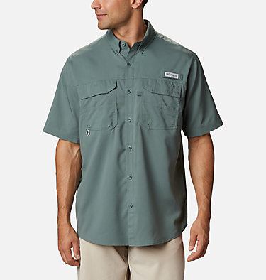 Men's PFG Blood and Guts™ III Short Sleeve Woven Shirt Blood and Guts™ III Short Sleeve Woven | 967 | XS, Pond, front