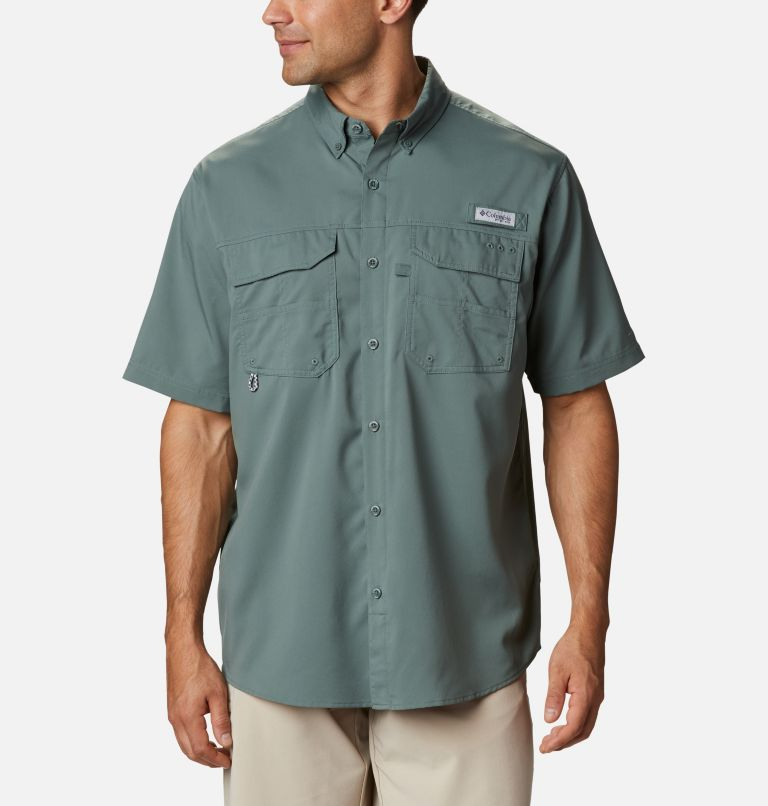 Blood and Guts™ III Short Sleeve Woven | 967 | S Men's PFG Blood and Guts™ III Short Sleeve Woven Shirt, Pond, front