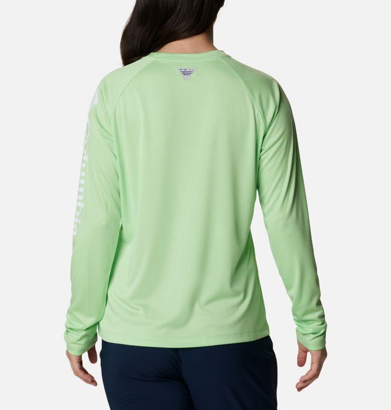 Tidal Tee™ II Long Sleeve | 398 | XL Women's PFG Tidal Tee™ II Long Sleeve Shirt, Lime Glow, White Logo, back