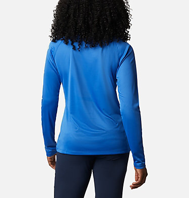 Women's PFG Tidal Tee™ II Long Sleeve Shirt Tidal Tee™ II Long Sleeve | 759 | S, Stormy Blue, Light Mint Logo, back