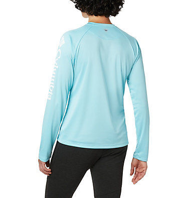 Women's PFG Tidal Tee™ II Long Sleeve Shirt Tidal Tee™ II Long Sleeve | 759 | S, Clear Blue, White Logo, back