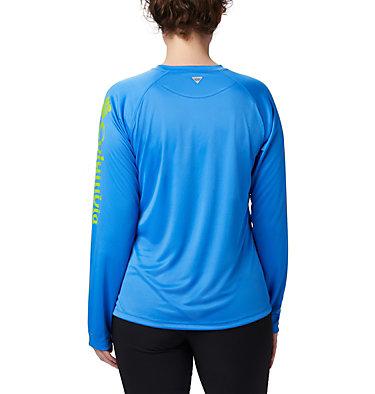 Women's PFG Tidal Tee™ II Long Sleeve Shirt Tidal Tee™ II Long Sleeve | 759 | S, Harbor Blue, Fission Logo, back