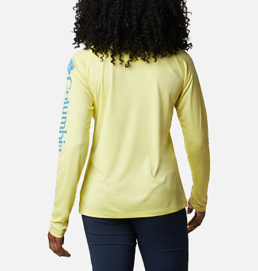 Women's PFG Tidal Tee™ II Long Sleeve Shirt Tidal Tee™ II Long Sleeve | 759 | XS, Sunnyside, Azure Blue Logo, back