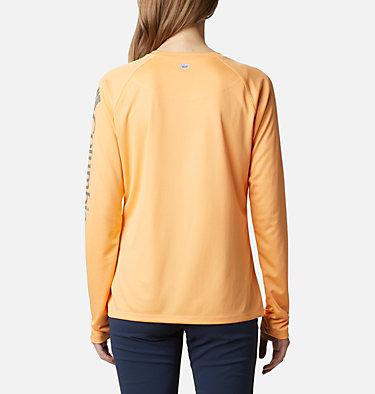Women's PFG Tidal Tee™ II Long Sleeve Shirt Tidal Tee™ II Long Sleeve   759   S, Light Juice, City Grey Logo, back