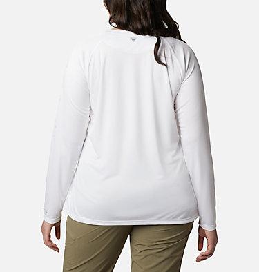 Women's PFG Tidal Tee™ II Long Sleeve - Plus Size Tidal Tee™ II Long Sleeve   759   2X, White, Cirrus Grey Logo, back