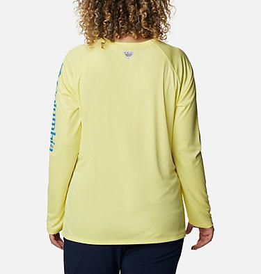 Women's PFG Tidal Tee™ II Long Sleeve - Plus Size Tidal Tee™ II Long Sleeve   759   2X, Sunnyside, Azure Blue Logo, back