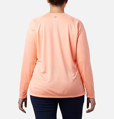 Women's PFG Tidal Tee™ II Long Sleeve - Plus Size Tidal Tee™ II Long Sleeve   759   2X, Tiki Pink, White Logo, back