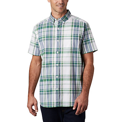 Men's Rapid Rivers™ II Short Sleeve Shirt Rapid Rivers™ II Short Sleeve Shirt | 463 | L, True Green Large Plaid, front