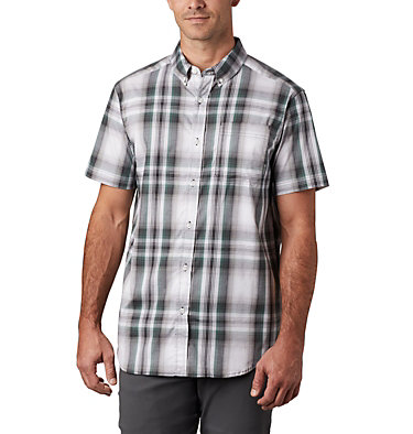 Men's Rapid Rivers™ II Short Sleeve Shirt Rapid Rivers™ II Short Sleeve Shirt | 463 | L, Thyme Green Ombre Plaid, front