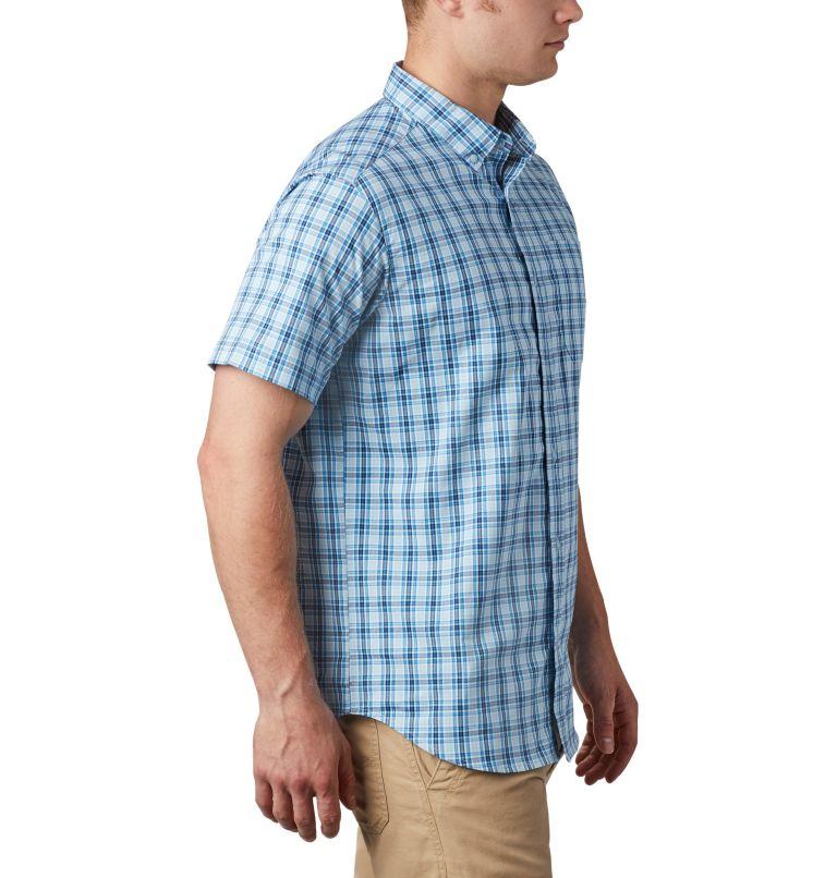Rapid Rivers™ II Short Sleeve Shirt | 463 | S Men's Rapid Rivers™ II Short Sleeve Shirt, Azure Blue Mini Gingham Plaid, a3