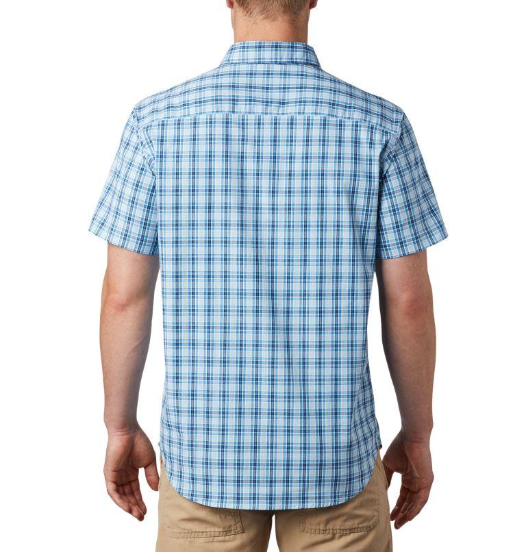 Rapid Rivers™ II Short Sleeve Shirt | 463 | S Men's Rapid Rivers™ II Short Sleeve Shirt, Azure Blue Mini Gingham Plaid, back