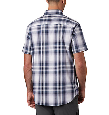 Men's Rapid Rivers™ II Short Sleeve Shirt Rapid Rivers™ II Short Sleeve Shirt | 463 | L, Collegiate Navy Ombre Plaid, back