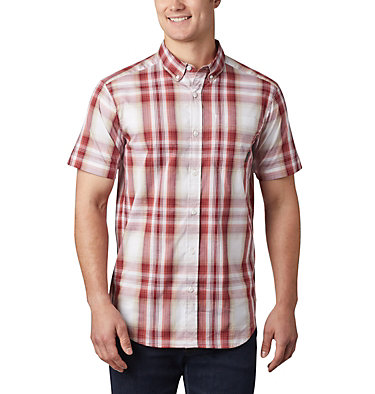 Men's Rapid Rivers™ II Short Sleeve Shirt Rapid Rivers™ II Short Sleeve Shirt | 463 | L, Red Jasper Ombre Plaid, front