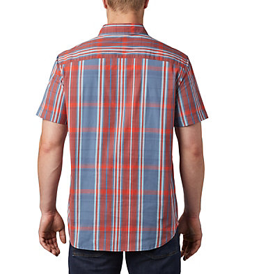 Men's Rapid Rivers™ II Short Sleeve Shirt Rapid Rivers™ II Short Sleeve Shirt | 465 | L, Carnelian Red Large Plaid, back