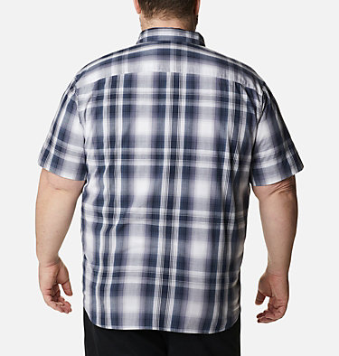 Men's Rapid Rivers™ II Short Sleeve Shirt – Big Rapid Rivers™ II Short Sleeve Shirt | 465 | 1X, Collegiate Navy Ombre Plaid, back