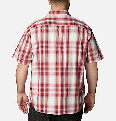 Men's Rapid Rivers™ II Short Sleeve Shirt – Big Rapid Rivers™ II Short Sleeve Shirt | 465 | 1X, Red Jasper Ombre Plaid, back
