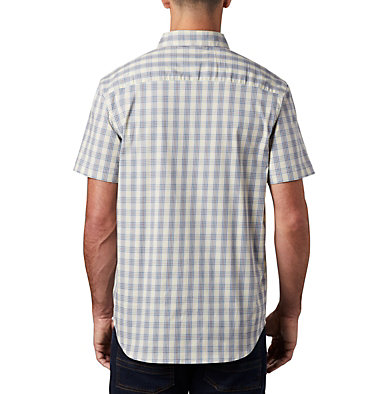 Men's Rapid Rivers™ II Short Sleeve Shirt – Big Rapid Rivers™ II Short Sleeve Shirt | 465 | 1X, Light Coral Mini Gingham Plaid, back