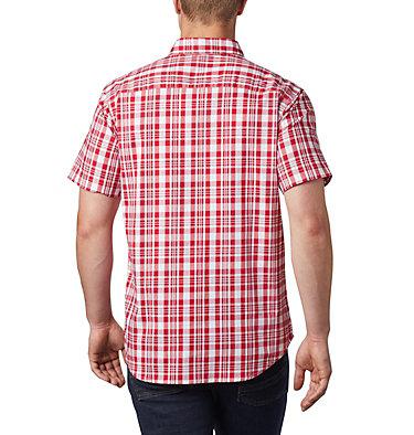 Men's Rapid Rivers™ II Short Sleeve Shirt - Tall Rapid Rivers™ II Short Sleeve Shirt | 845 | 2XT, Mountain Red Medium Plaid, back