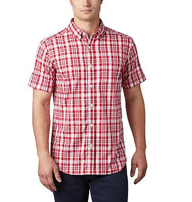 Men's Rapid Rivers™ II Short Sleeve Shirt - Tall Rapid Rivers™ II Short Sleeve Shirt | 845 | 2XT, Mountain Red Medium Plaid, front