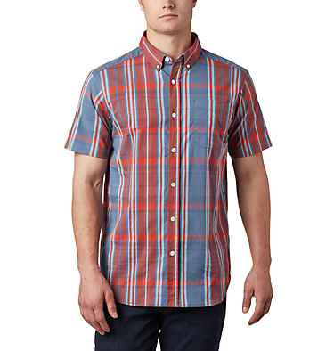 Men's Rapid Rivers™ II Short Sleeve Shirt - Tall Rapid Rivers™ II Short Sleeve Shirt | 845 | 2XT, Carnelian Red Large Plaid, front