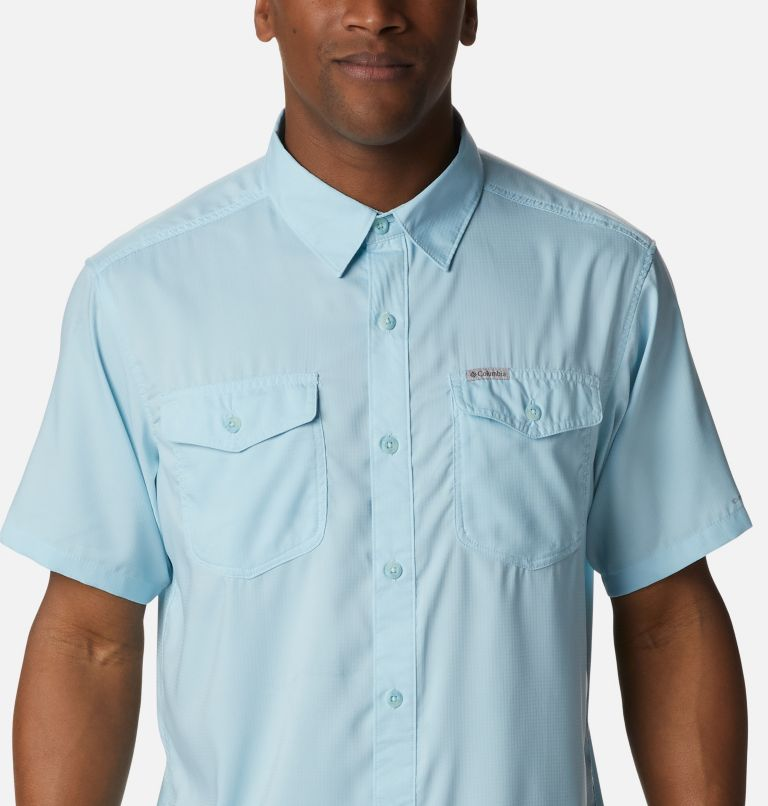 Utilizer™ II Solid Short Sleeve Shirt   427   XXL Men's Utilizer™ II Solid Short Sleeve Shirt, Sky Blue, a2