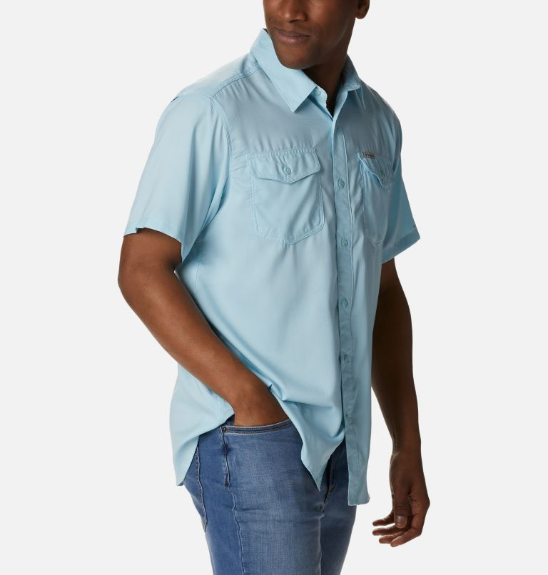 Utilizer™ II Solid Short Sleeve Shirt   427   XXL Men's Utilizer™ II Solid Short Sleeve Shirt, Sky Blue, a3