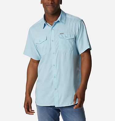 Men's Utilizer™ II Solid Short Sleeve Shirt Utilizer™ II Solid Short Sleeve Shirt | 464 | L, Sky Blue, front