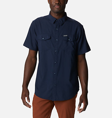 Men's Utilizer™ II Solid Short Sleeve Shirt Utilizer™ II Solid Short Sleeve Shirt | 464 | L, Collegiate Navy, front