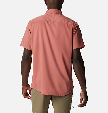 Men's Utilizer™ II Solid Short Sleeve Shirt Utilizer™ II Solid Short Sleeve Shirt | 464 | L, Dark Coral, back