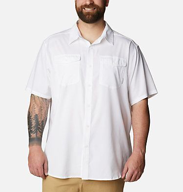 Men's Utilizer™ II Solid Short Sleeve Shirt – Big Utilizer™ II Solid Short Sleeve Shirt | 464 | 1X, White, front