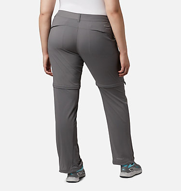 Women's Saturday Trail™ II Convertible Pants - Plus Size Saturday Trail™ II Convertible Pant | 305 | 16W, City Grey, back