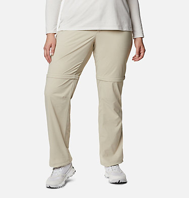 Women's Saturday Trail™ II Convertible Pants - Plus Size Saturday Trail™ II Convertible Pant | 397 | 16W, Fossil, front