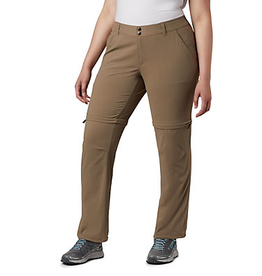 Women's Saturday Trail™ II Convertible Pants - Plus Size Saturday Trail™ II Convertible Pant | 397 | 16W, Truffle, front