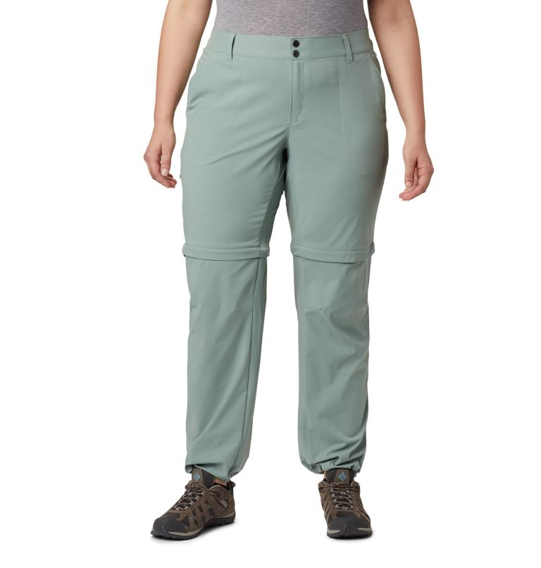 Saturday Trail™ II Convertible Pant | 305 | 18W Women's Saturday Trail™ II Convertible Pants - Plus Size, Light Lichen, a4