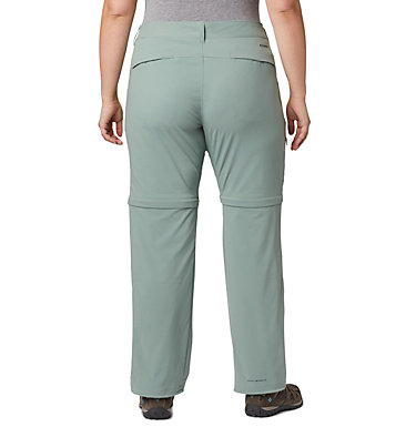 Women's Saturday Trail™ II Convertible Pants - Plus Size Saturday Trail™ II Convertible Pant | 305 | 16W, Light Lichen, back