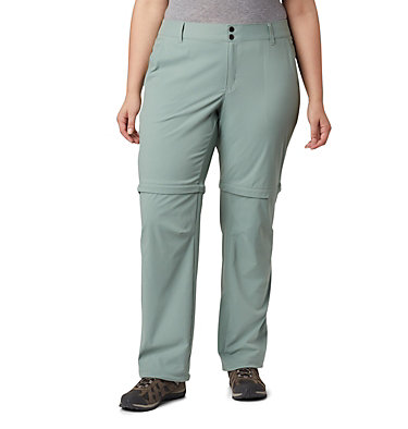 Women's Saturday Trail™ II Convertible Pants - Plus Size Saturday Trail™ II Convertible Pant | 305 | 16W, Light Lichen, front