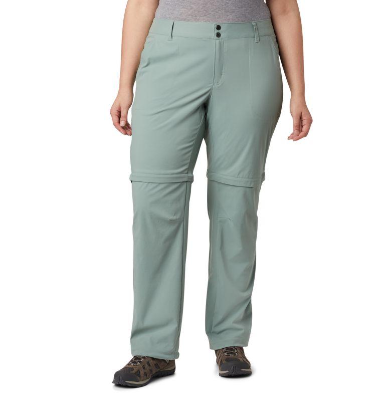 Saturday Trail™ II Convertible Pant | 305 | 18W Women's Saturday Trail™ II Convertible Pants - Plus Size, Light Lichen, front