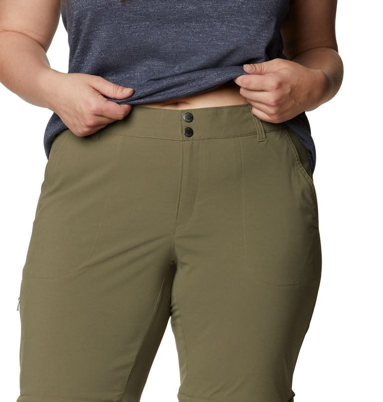 Saturday Trail™ II Convertible Pant | 397 | 18W Women's Saturday Trail™ II Convertible Pants - Plus Size, Stone Green, a2