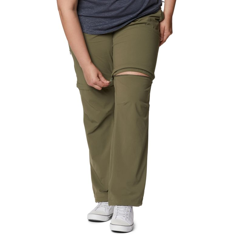 Saturday Trail™ II Convertible Pant | 397 | 18W Women's Saturday Trail™ II Convertible Pants - Plus Size, Stone Green, a4