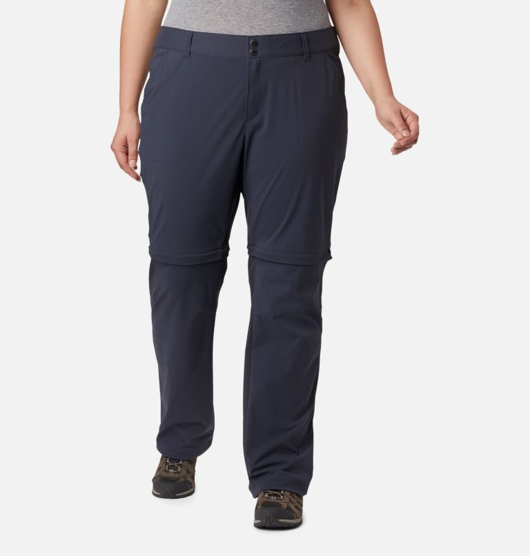Saturday Trail™ II Convertible Pant | 419 | 24W Women's Saturday Trail™ II Convertible Pants - Plus Size, India Ink, front