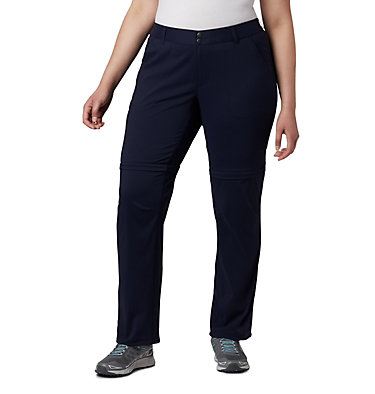 Women's Saturday Trail™ II Convertible Pants - Plus Size Saturday Trail™ II Convertible Pant | 305 | 16W, Dark Nocturnal, front