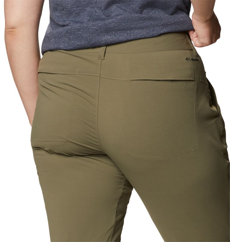 Saturday Trail™ Pant | 397 | 22W Women's Saturday Trail™ Stretch Pants - Plus Size, Stone Green, a3