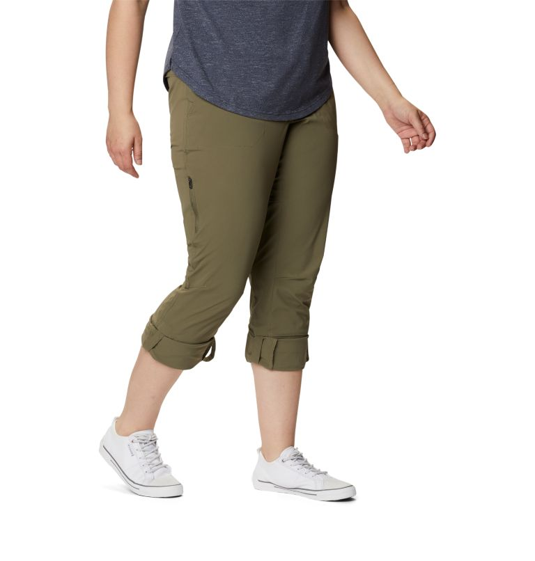 Saturday Trail™ Pant | 397 | 22W Women's Saturday Trail™ Stretch Pants - Plus Size, Stone Green, a4