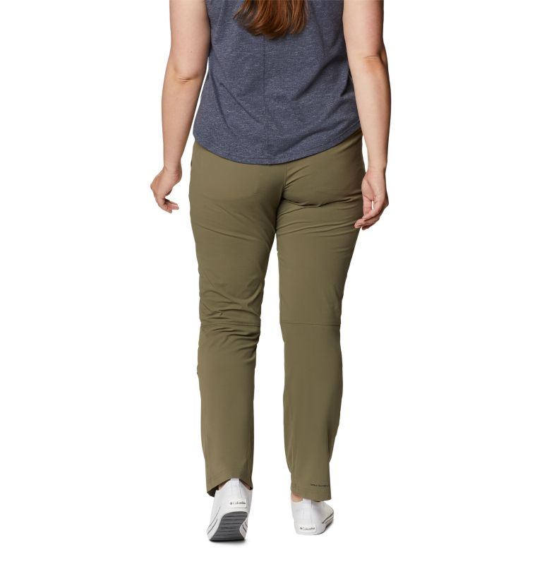 Saturday Trail™ Pant | 397 | 22W Women's Saturday Trail™ Stretch Pants - Plus Size, Stone Green, back