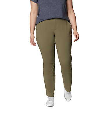 Women's Saturday Trail™ Stretch Pants - Plus Size Saturday Trail™ Pant | 397 | 16W, Stone Green, front