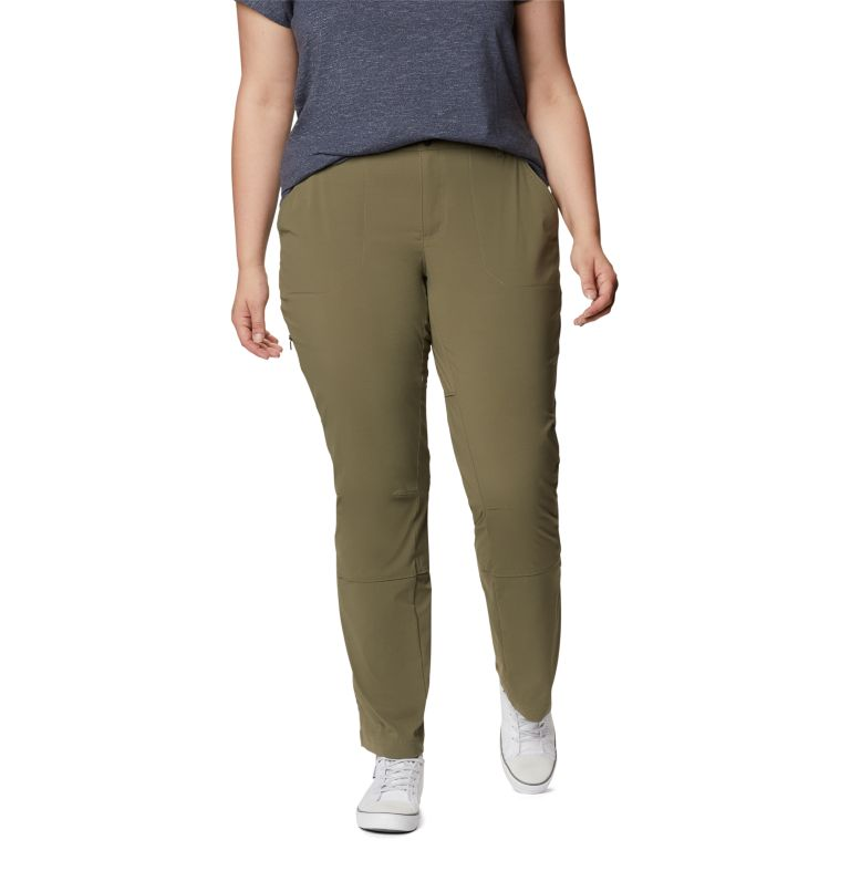 Saturday Trail™ Pant | 397 | 22W Women's Saturday Trail™ Stretch Pants - Plus Size, Stone Green, front
