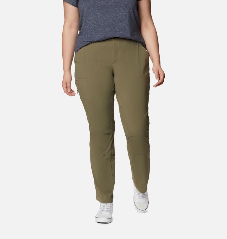 Saturday Trail™ Pant | 397 | 18W Women's Saturday Trail™ Stretch Pants - Plus Size, Stone Green, front