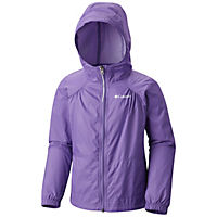 Columbia Girl's Switchback Rain Jacket (Grape Gum or Pink Ice)
